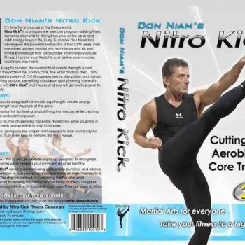 DVD Wrap for Nitro Kick dvds displaying don kicking and overview of the workout